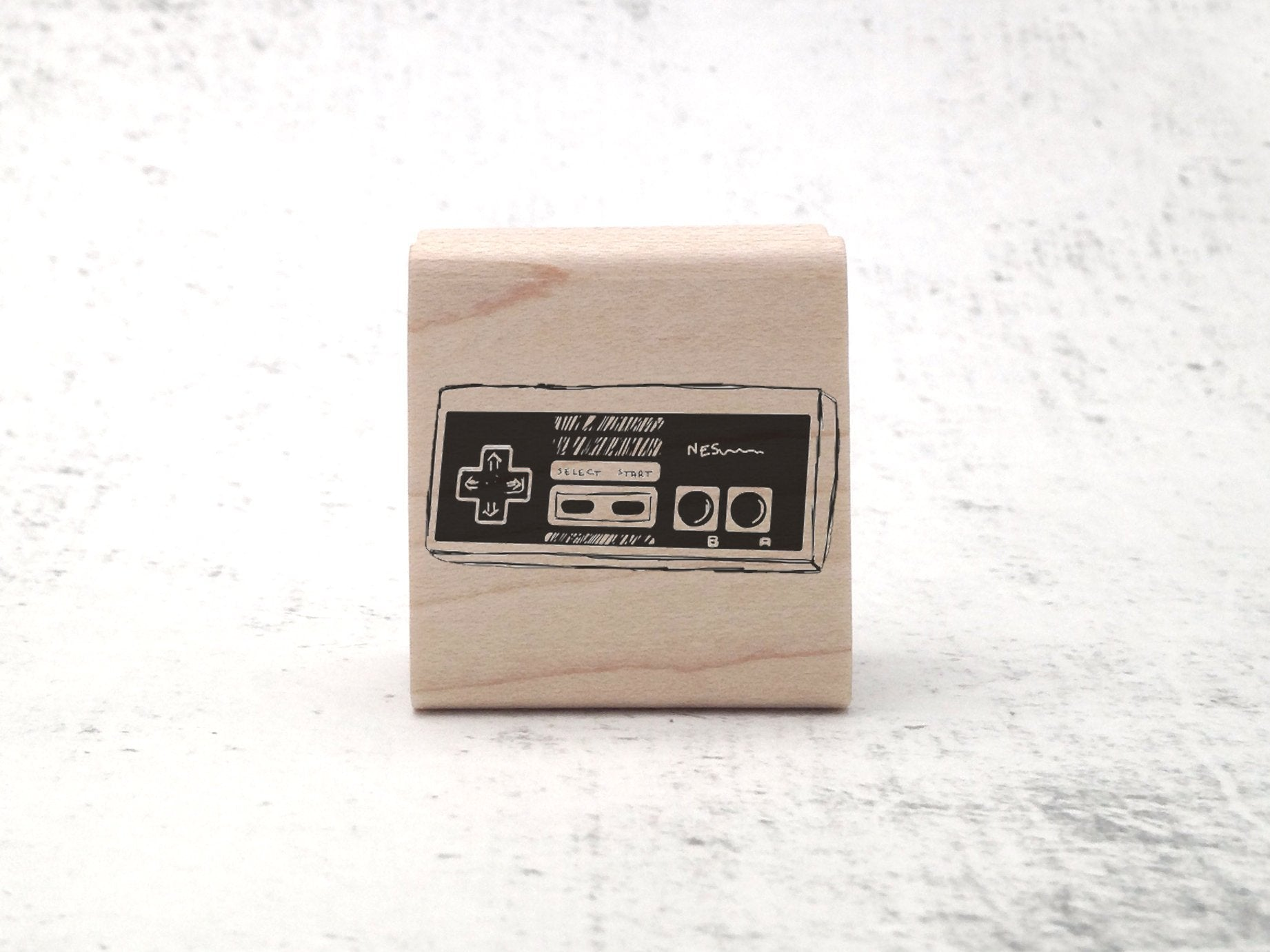 NES Gaming Stamp - 90's Retro Rubber Stamp - Gaming / Gamer Stamp - Geek Gift and Geekery