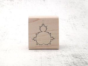 Mandelbrot Fractal Rubber Stamp - Math and Physics Gift- Sacred Geometry Rubber Stamp - Science Stamp