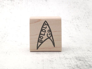 The To Boldly Go Stamp - Trekkie / SciFi Rubber Stamp - Motivational Teacher Rubber Stamp