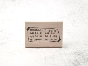 The Binary Awesome Stamp - Motivational Rubber Stamp - Inspiring Teacher Stamp - Computer Geek