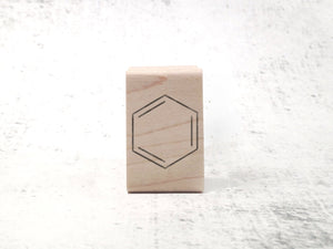 Benzene Stamp - Organic Chemistry Rubber Stamp - Study Note and Lab Notebook Stamp
