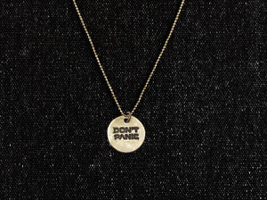 Don't Panic Pendant Necklace - Minimal Bronze HHGTTG Necklace - Men's / Women's Hitchhiker's Guide Jewelry