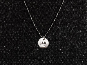 Sterling Silver 42 Pendant - Hitchhiker's Guide Sci-Fi Necklace - Men's / Women's HHGTTG Jewelry