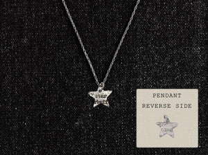 Sterling Silver Star Stuff Pendant - Distressed Cosmos Necklace - Men's / Women's STEM Jewelry