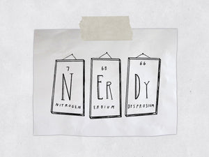 The Nerdy Elements Rubber Stamp - Chemistry Stamp - Periodic Table Science Stamp - Geek Stamp and Geekery