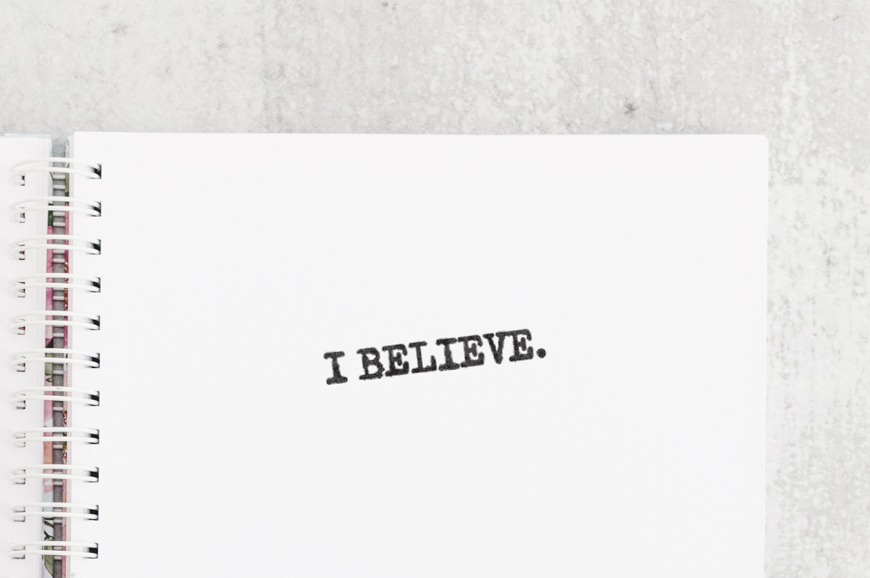 I Believe Rubber Stamp - UFO / Aliens Illustrated Bujo Stamp - 90's Retro Rubber Stamp