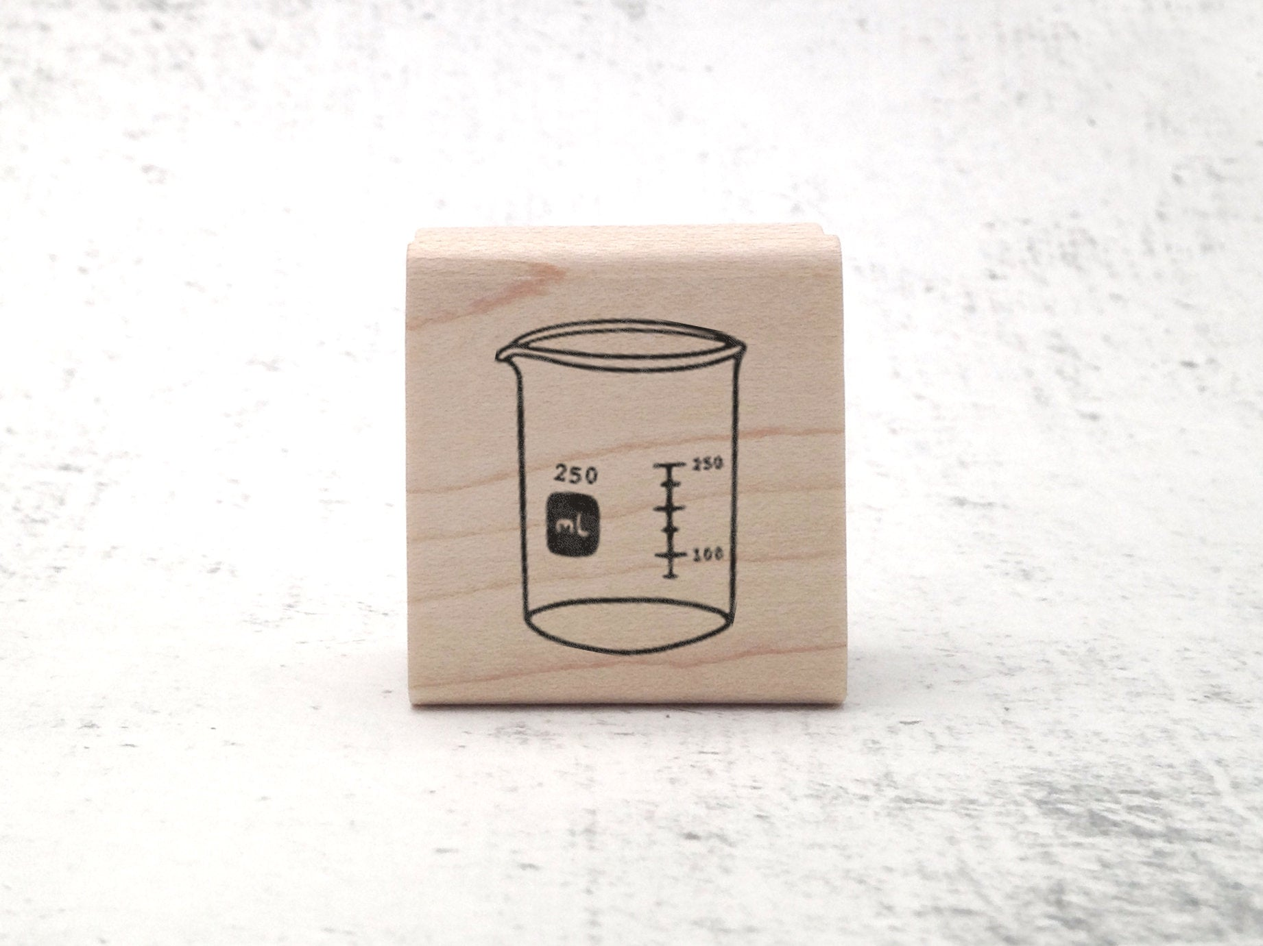 Beaker Laboratory Stamp - Chemistry Lab Rubber Stamp - Beaker Science Teacher Stamp