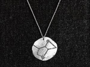 Orion Constellation Medallion Pendant  - Sterling Silver Celestial Necklace - Space / Astronomy / Cosmos  Jewelry