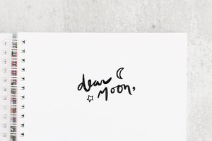 Dear Moon Stamp - Hand-lettered Astronomy / Celestial Rubber Stamp - STEM / Outer Space Stationary