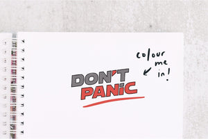 Don't Panic 2.0 Stamp - HHGTTG Rubber Stamp - Motivational Stationary Stamp - Hitchhikers Guide Geek  Rubber Stamp