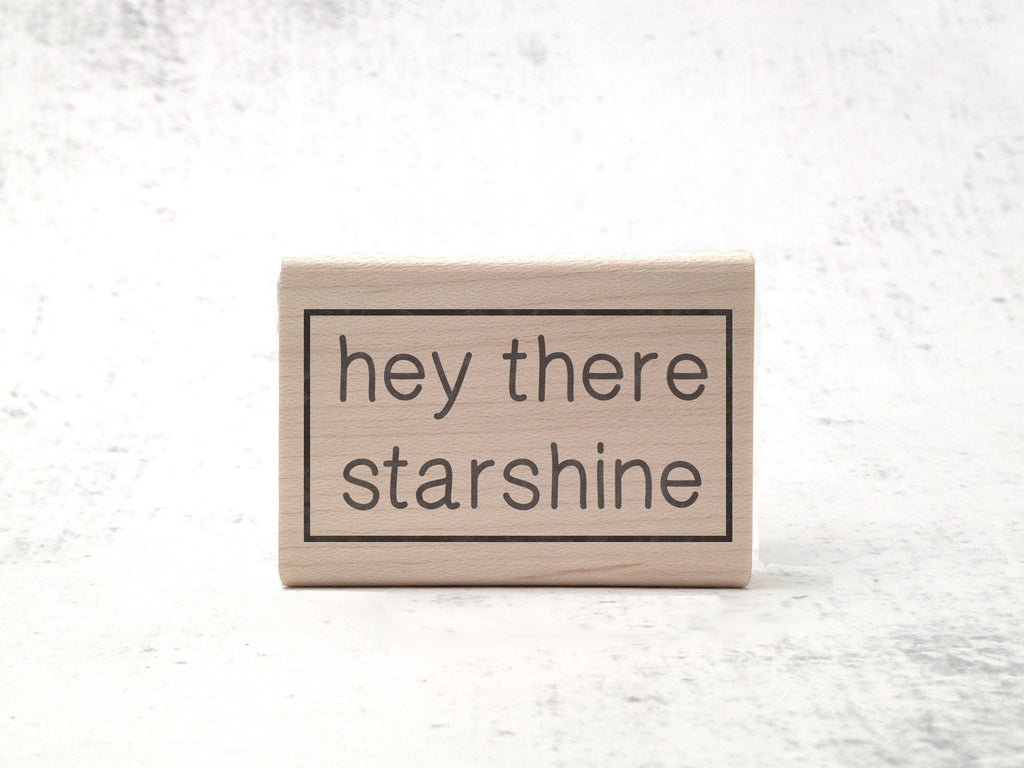 Hey There Starshine Stamp - Astronomy / Space Rubber Stamp - STEM / Celestial Aesthetic Stationary