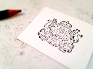 The Whovian Royal Crest Stamp - The Doctor Sci Fi Rubber Stamp - Vintage Aesthetic Police Box Stamp