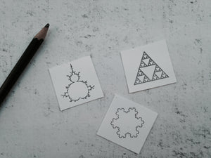 Sierpinski Triangle Fractal Geometry Rubber Stamps - Math and Physics Gift- STEM & STEAM Teachers Stamp