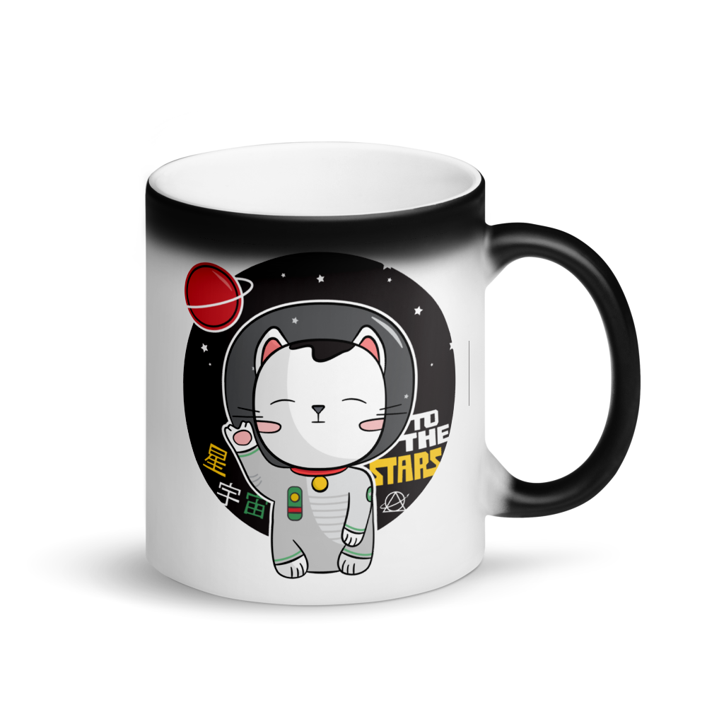 Lucky Astronaut Cat Maneki-neko Colour-changing Mug