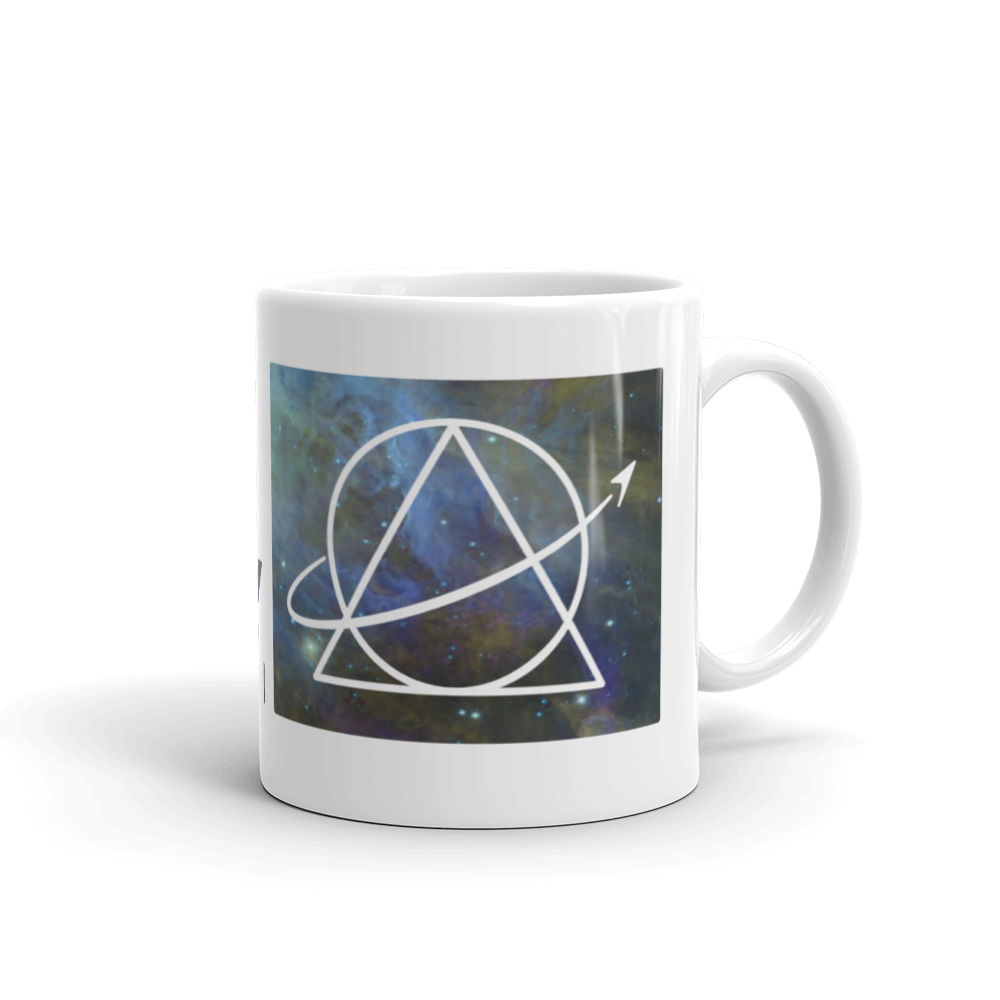 We The Sciencey Nebula Mug: Right Handed