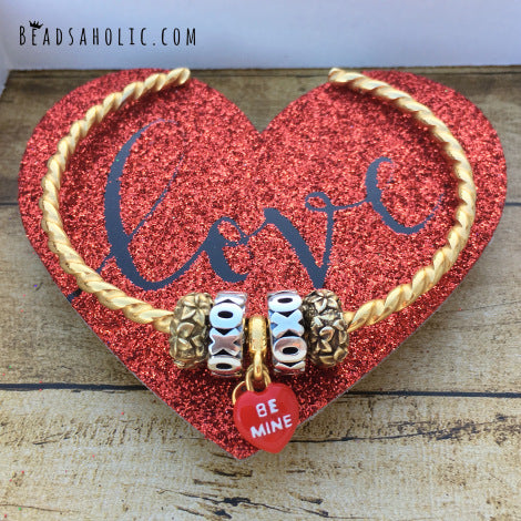 Beadsaholic Review: Be Mine 18K Gold Couture Charm