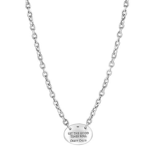 Please Return to New Orleans Oval Necklace - Small