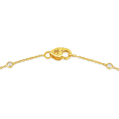 18K Yellow Gold & Diamond Necklace