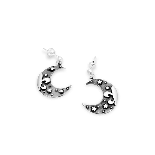 Fleur de Crescent Earrings