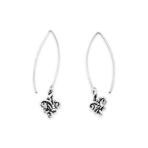 Fleur de Knot Long Drop Earrings - Small