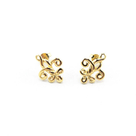 Small Fleur de Knot Earrings