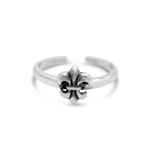 Adjustable Fleur de Lis Ring