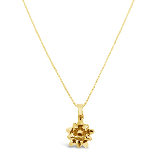 Present Bow Pendant Gold