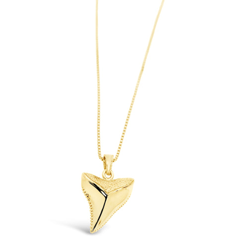 Shark Tooth Pendant Gold