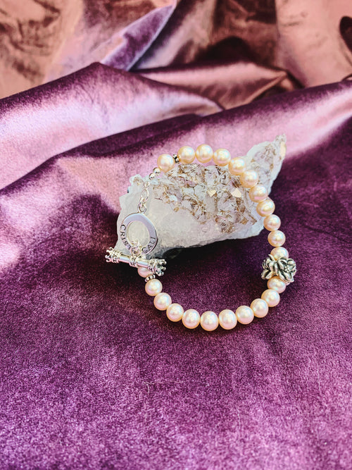 Blossom of Wealth Magnolia Pearl Toggle Bracelet - PREORDER ONLY