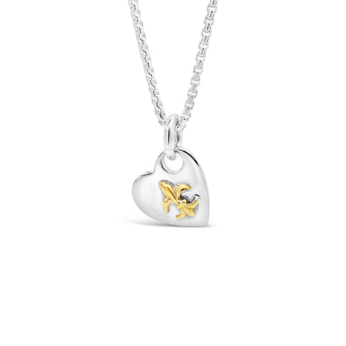 Please Return to New Orleans Heart 18K Gold