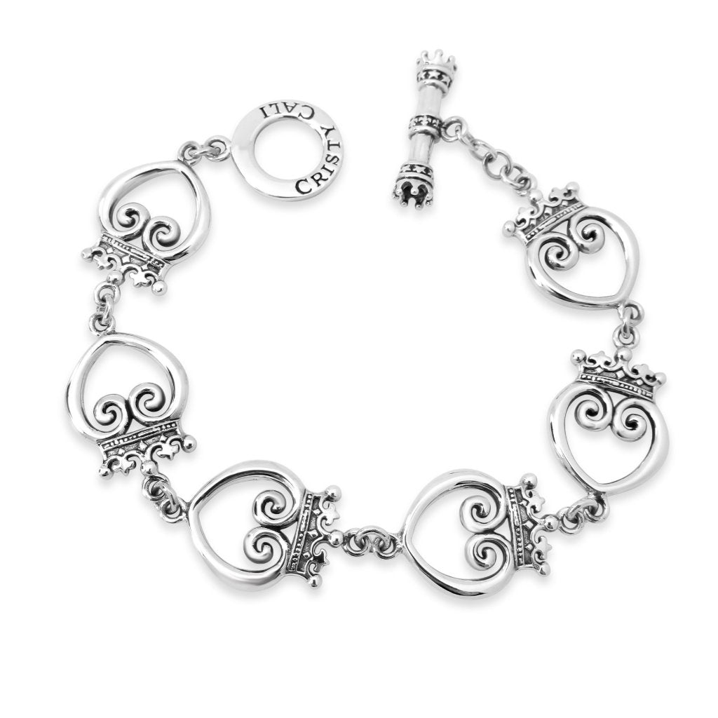 Queen Of Hearts Toggle Bracelet