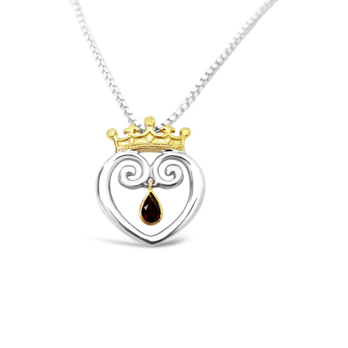 Queen of Hearts Mixed 18K with Garnet - Medium