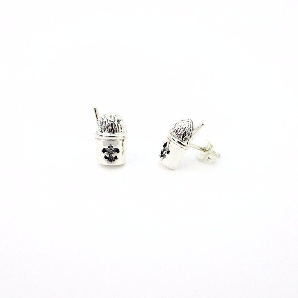 Snowball Half Stud Earrings