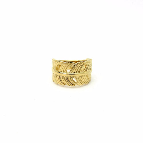 Banana Leaf Ring Gold