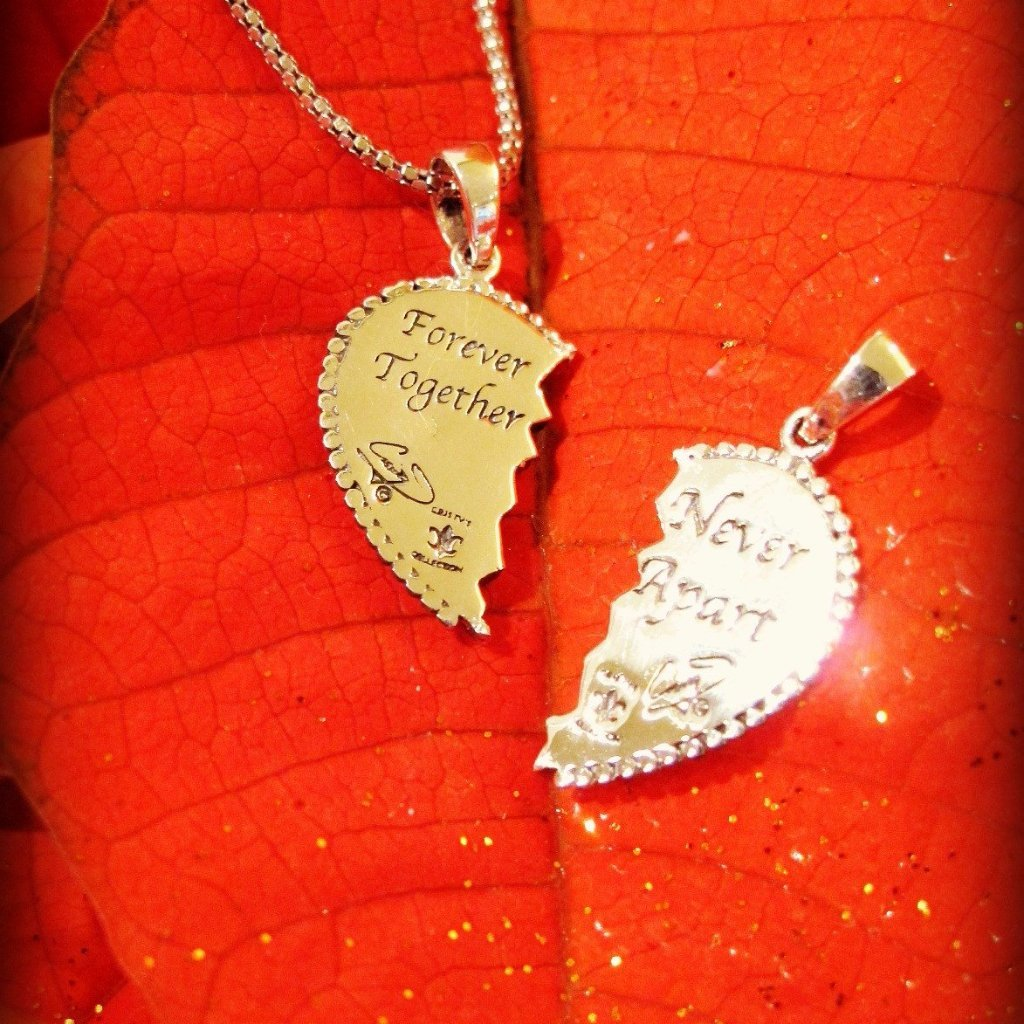 Breakable Heart Pendants