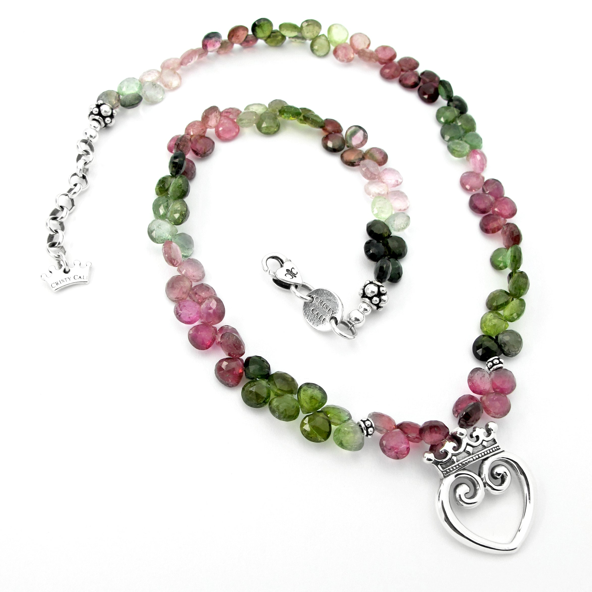 Carnival Tourmaline Queen of Hearts Signature Necklace