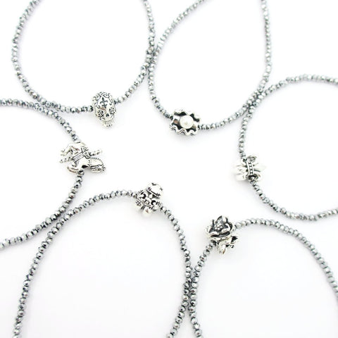Wedding Cake Pull Set of 6 on Crystal Bracelets