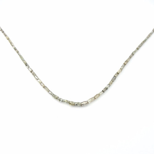 Faceted Natural Diamond Necklace Strand