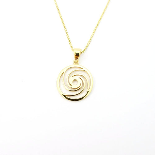 Eye Of The Storm Hurricane Gold Charm