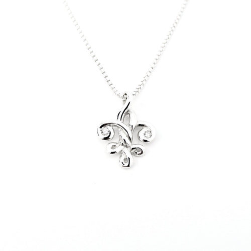 Fleur de Knot with Diamonds - Small