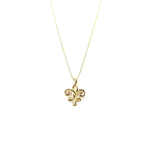 Strength & Courage Fleur de Lis Couture Charm