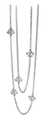Fleur de Knot Long Chain Necklace