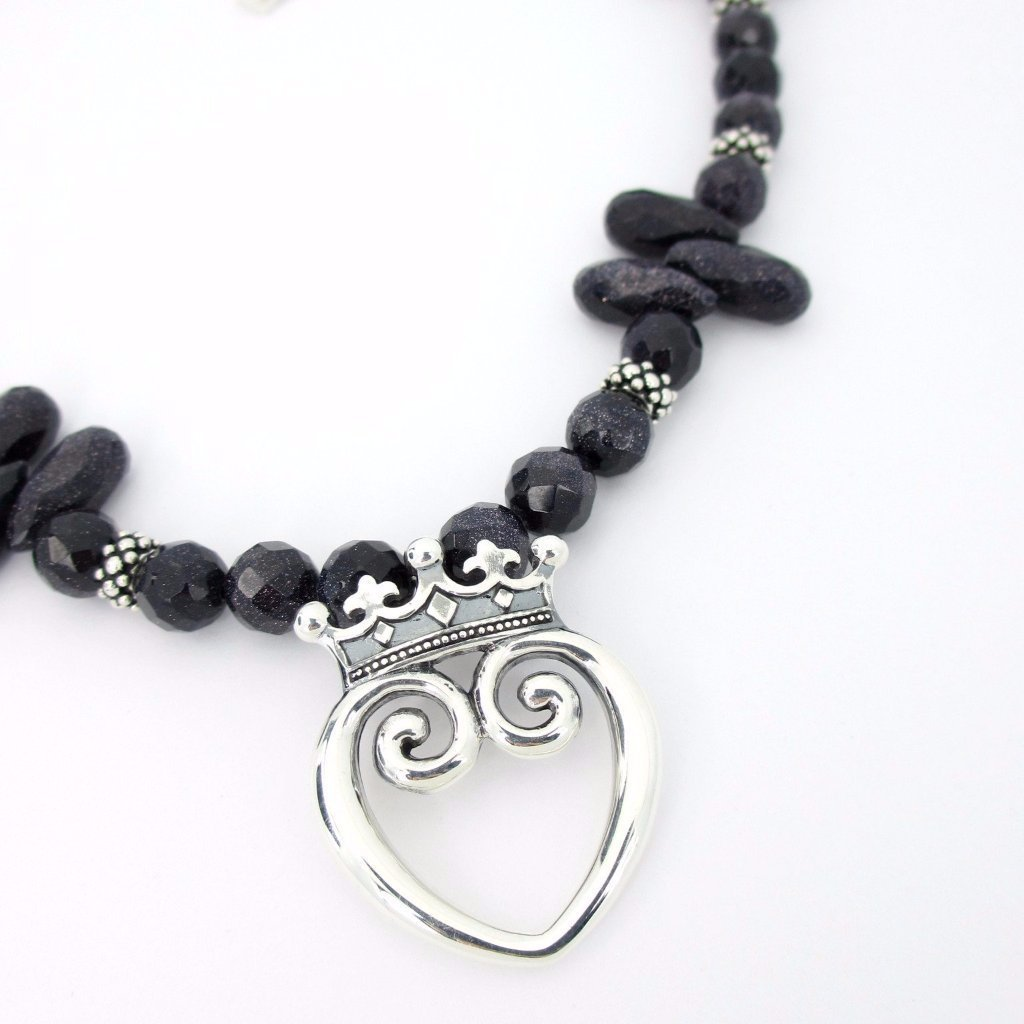Midnight Deaux Blue Goldstone Queen of Hearts ONE-OF-A-KIND