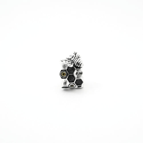 Honeycomb & Bee Couture Charm - PREORDER