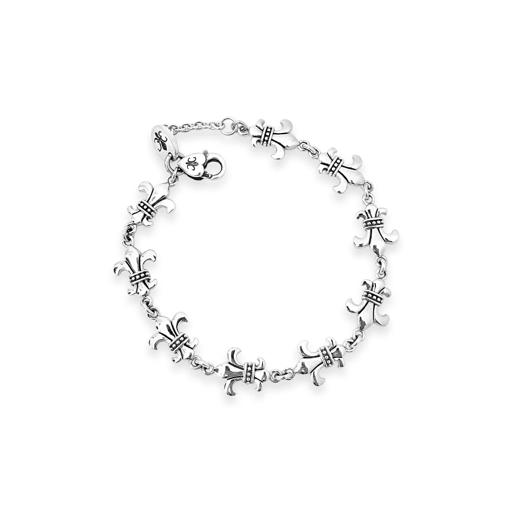 Strength & Courage Fleur de Lis Dainty Bracelet