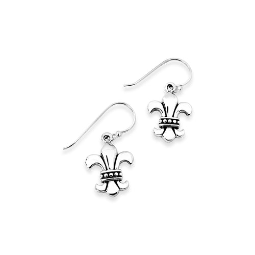 Strength & Courage Fleur de Lis Large Earrings
