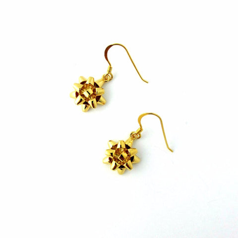 Present Bow Earrings