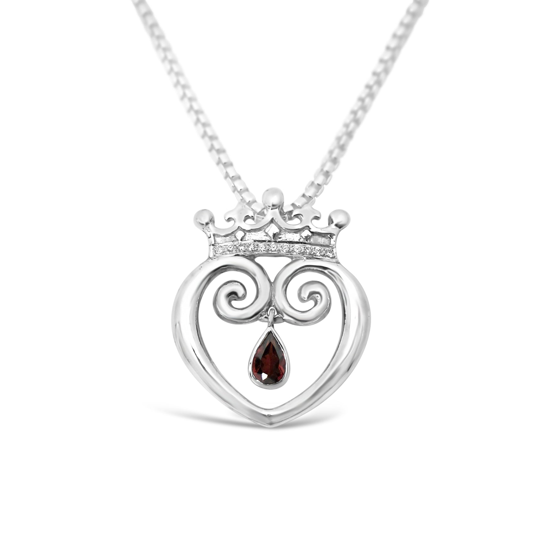 Queen of Hearts with Garnet & Diamonds - Medium