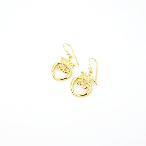 Present Bow Earrings Gold