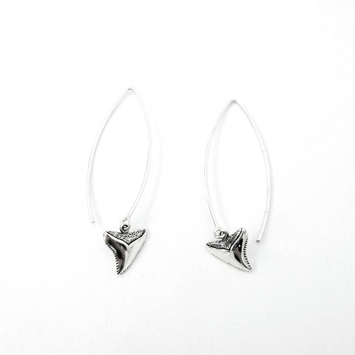 Shark Tooth Long Drop Earrings